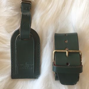 Updated Authentic Louis Vuitton luggage tag
